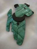 Ric The Terrier - Dog Brooch by Lea Stein of Paris (Sold)